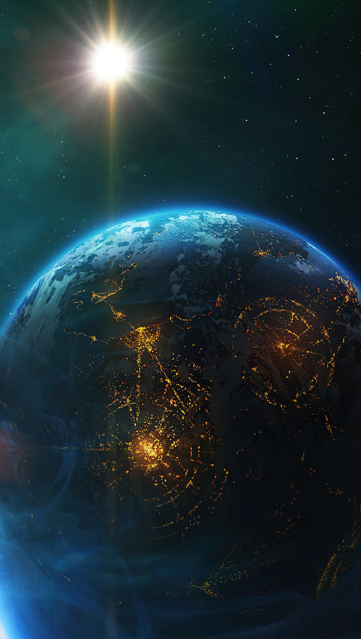 Fondos de pantalla La tierra en el espacio Vertical