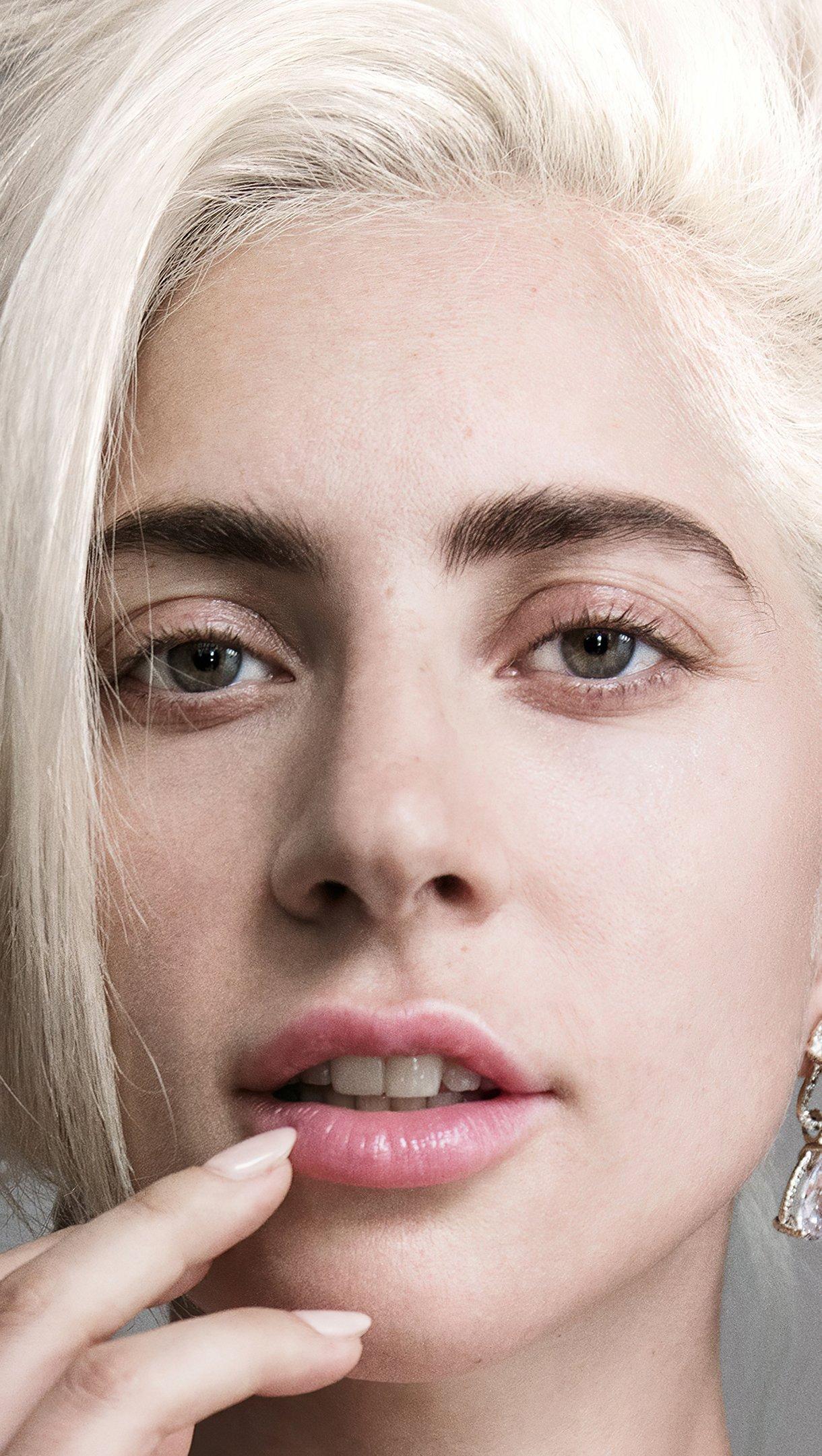 Wallpaper Lady Gaga without makeup 2021 Vertical