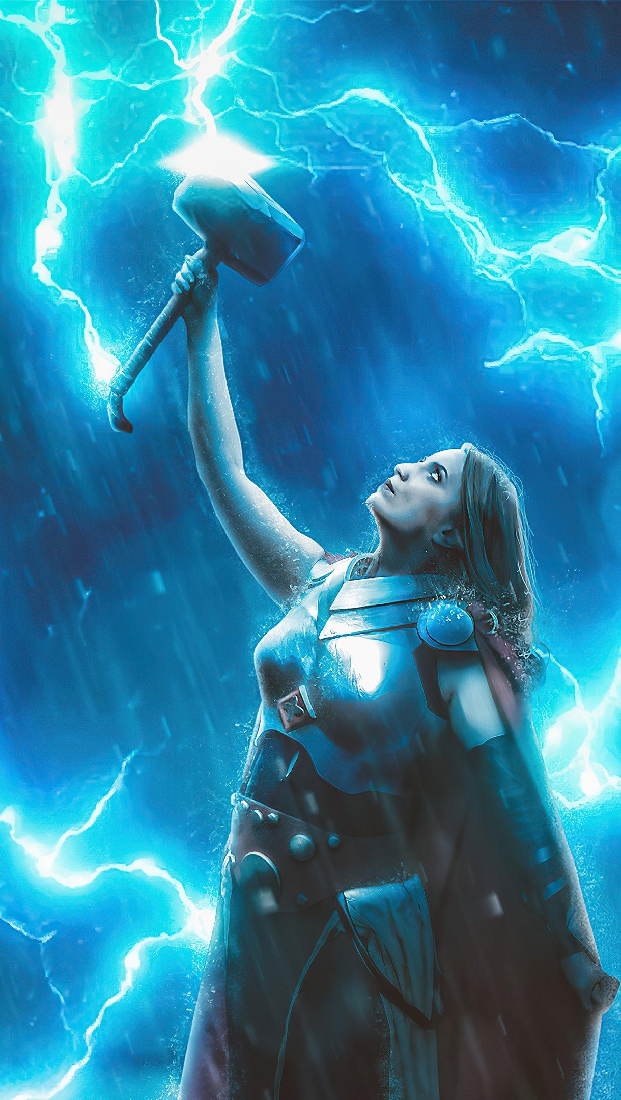 Wallpaper Lady Thor god of thunder Vertical