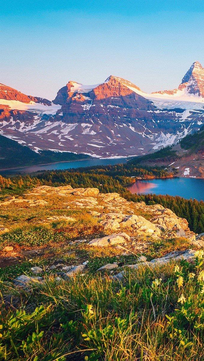 Wallpaper Columbia Lake in Canada Vertical