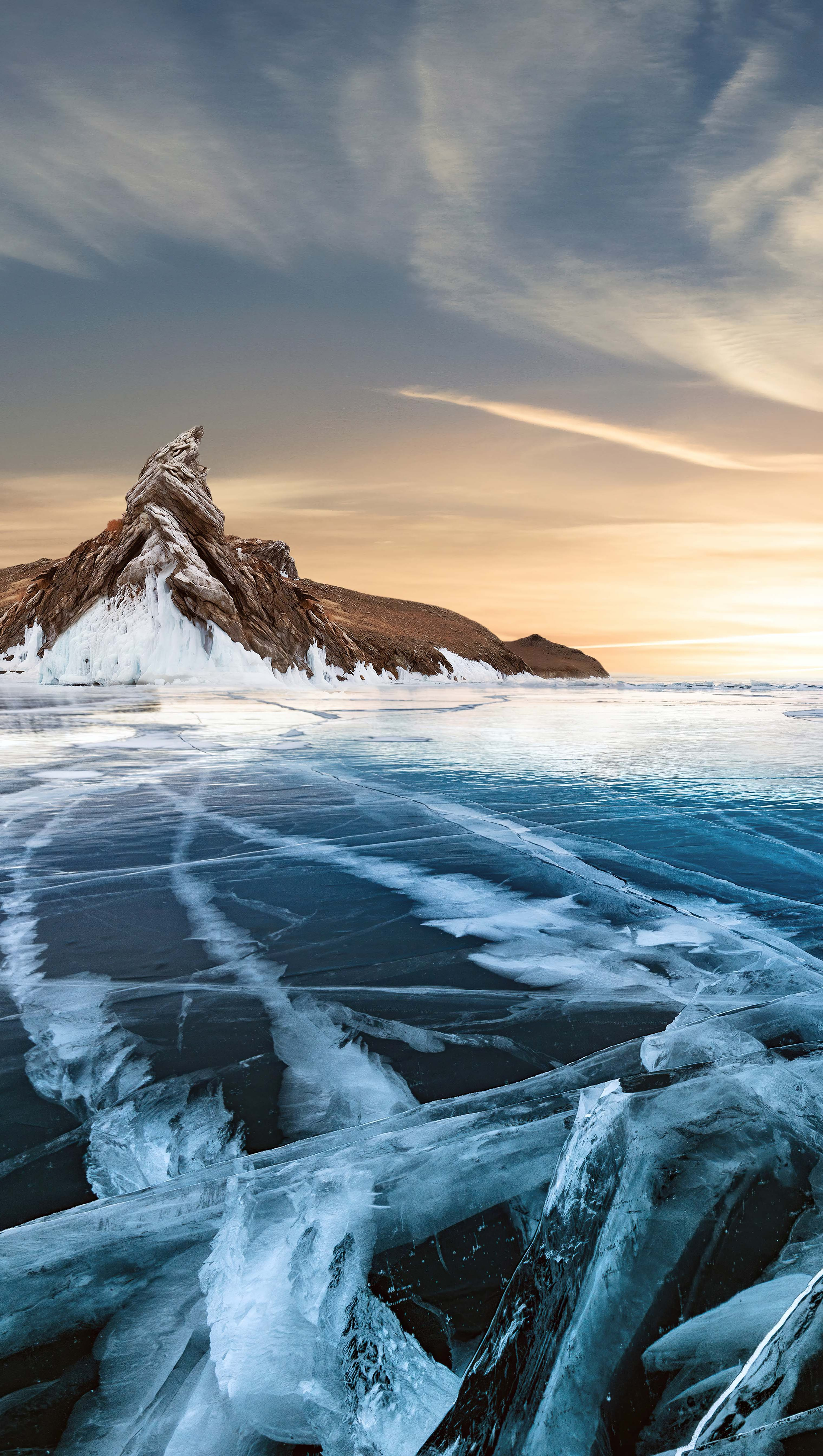 Wallpaper Frozen Lake Vertical