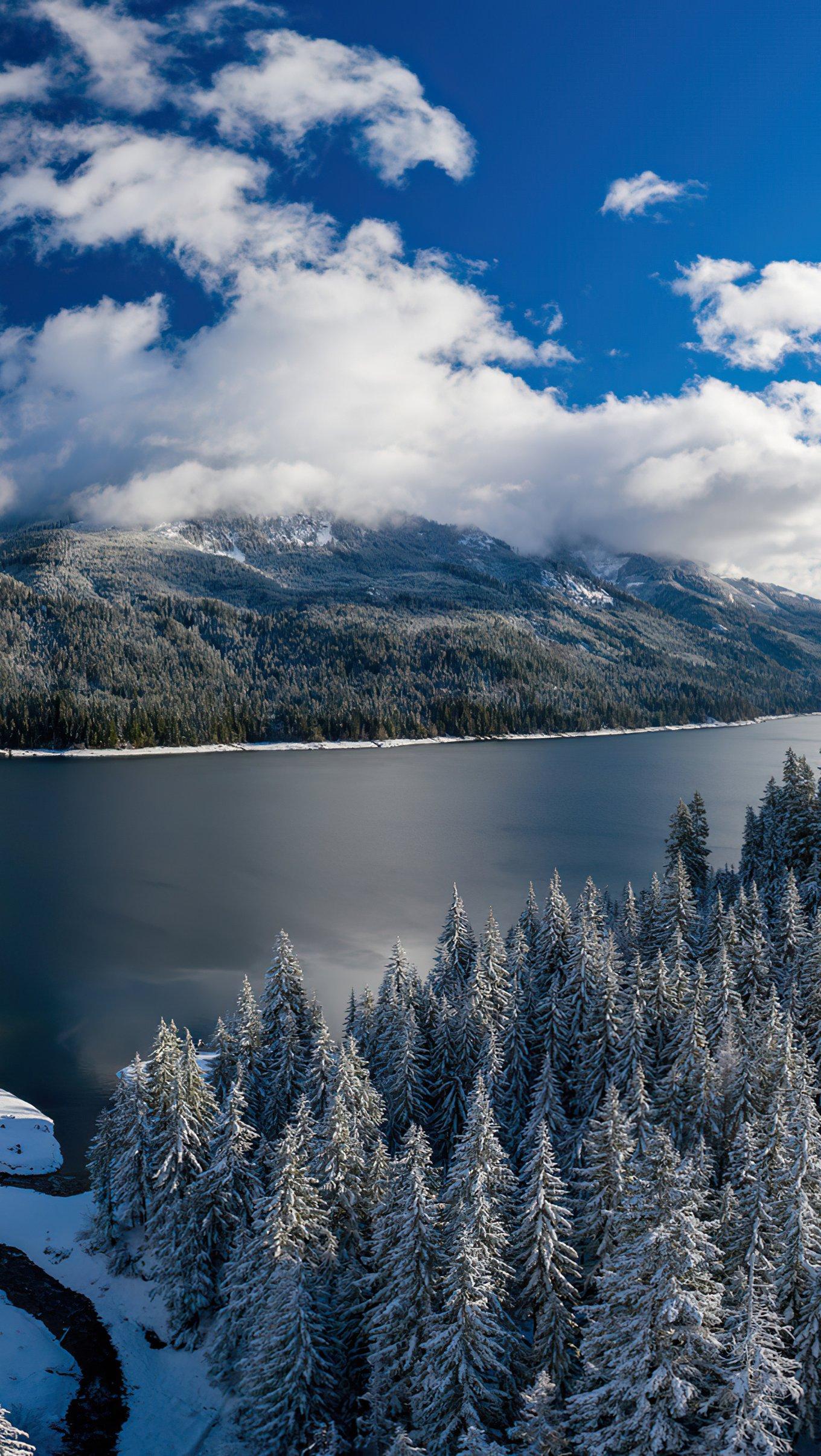 Wallpaper Lake Kachess Vertical