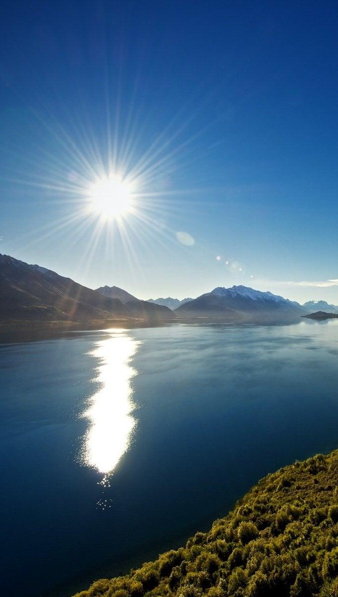 Wallpaper Lake Wakatipu Vertical