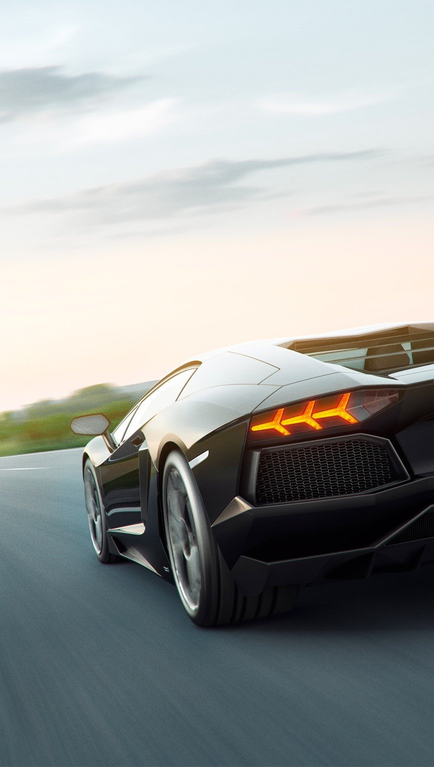 Wallpaper Lamborghini Aventador art Vertical