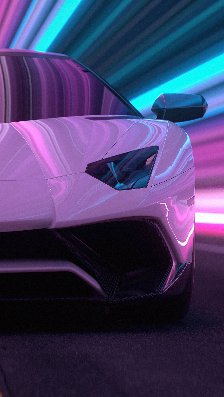 Fondos de pantalla Lamborghini Aventador CGI Vertical