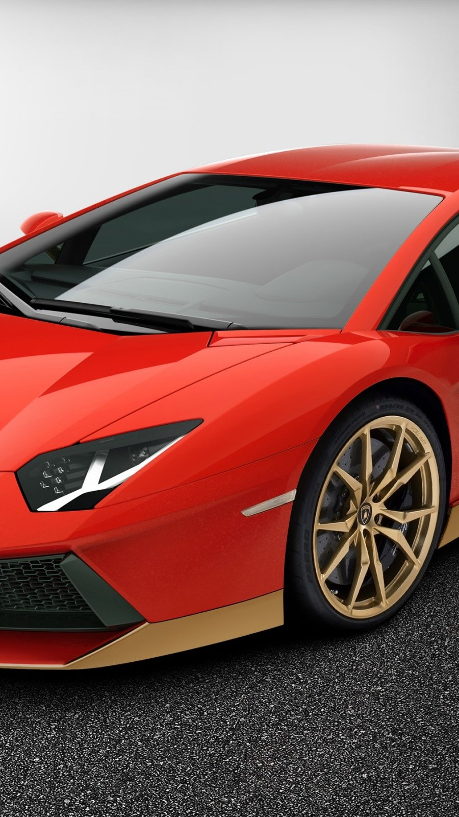 Wallpaper Lamborghini Aventador LP 700 4 red Vertical