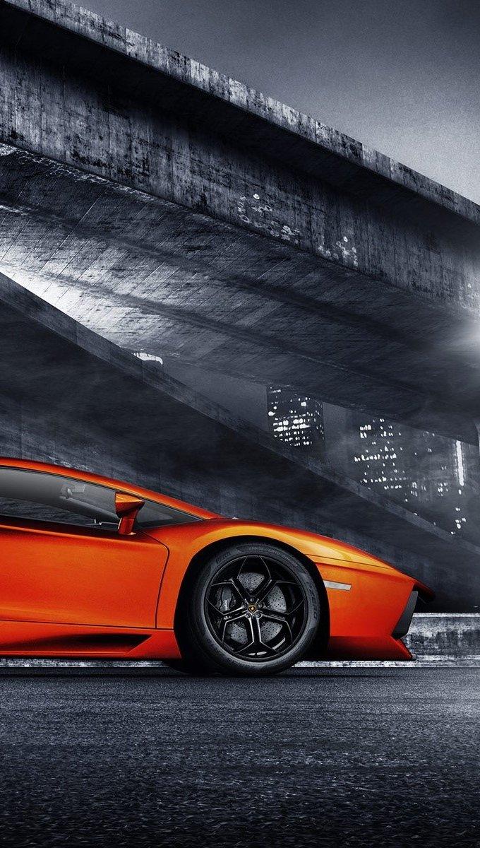 Wallpaper Lamborghini Aventador Sports Vertical
