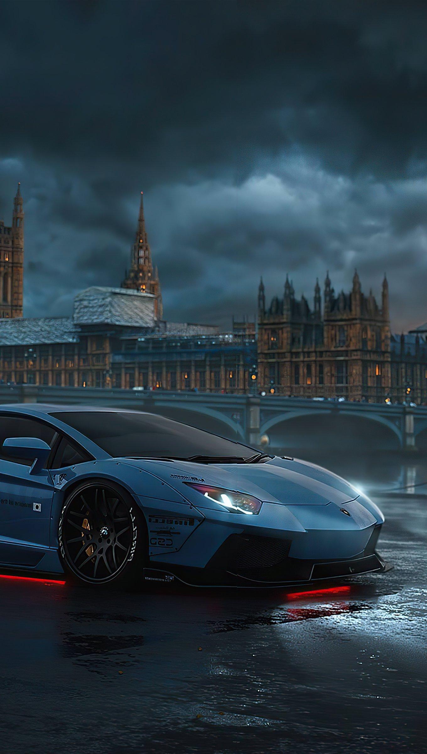 Wallpaper Lamborghini in London Vertical