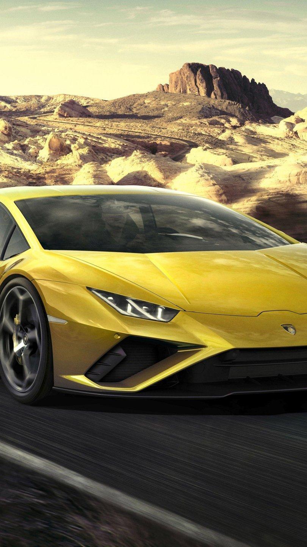 Wallpaper Yellow Lamborghini Huracan Vertical