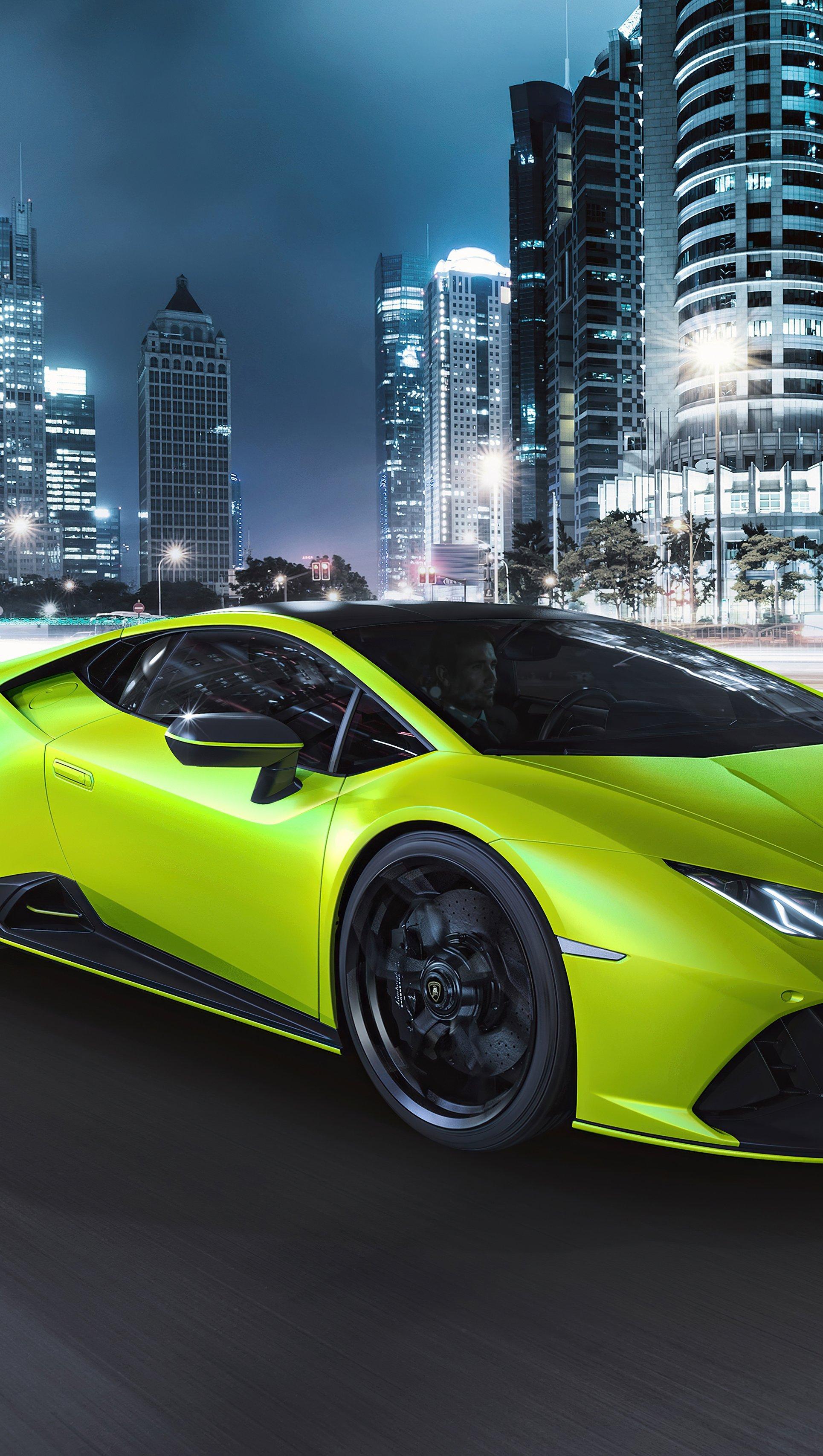 Wallpaper Lamborghini Huracan Evo Fluo Capsule 1G Vertical