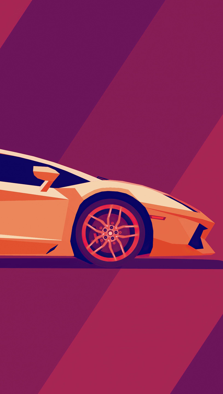 Wallpaper Lamborghini Minimal Vertical