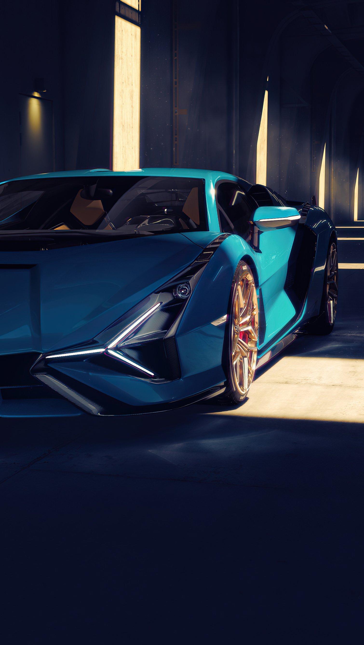 Fondos de pantalla Lamborghini Sian Vertical