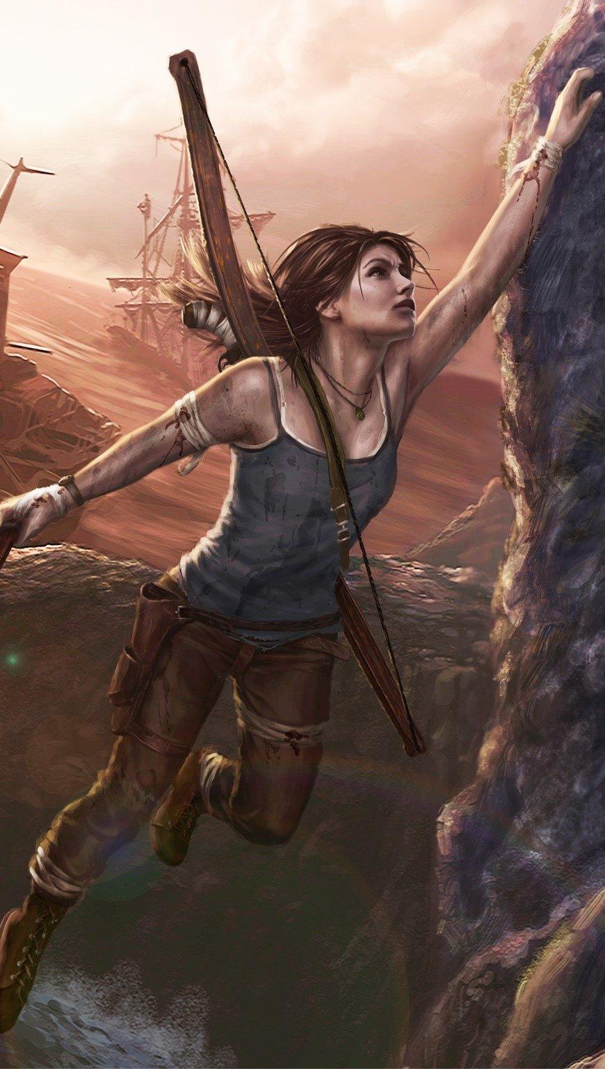 Wallpaper Lara Croft art Vertical