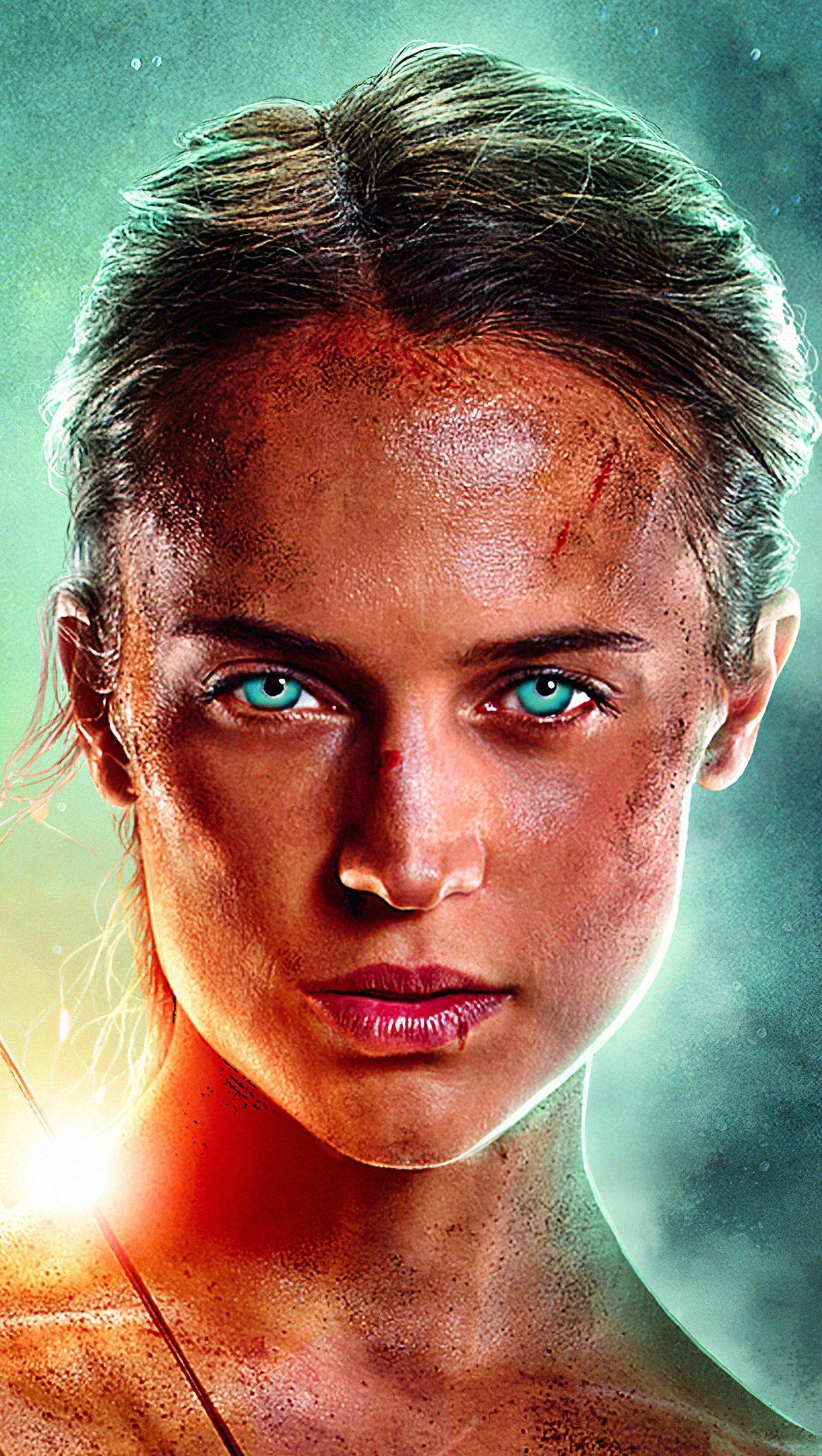 Wallpaper Lara Croft: Tomb Raider Vertical