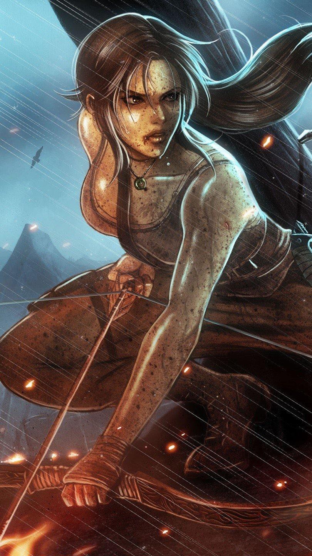Wallpaper Lara Croft Tomb Raider Reborn Vertical