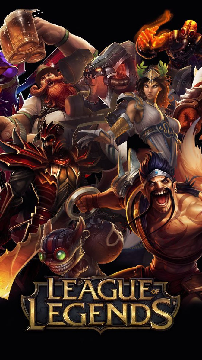 Wallpaper League Of Legends Characters Poster Vertical