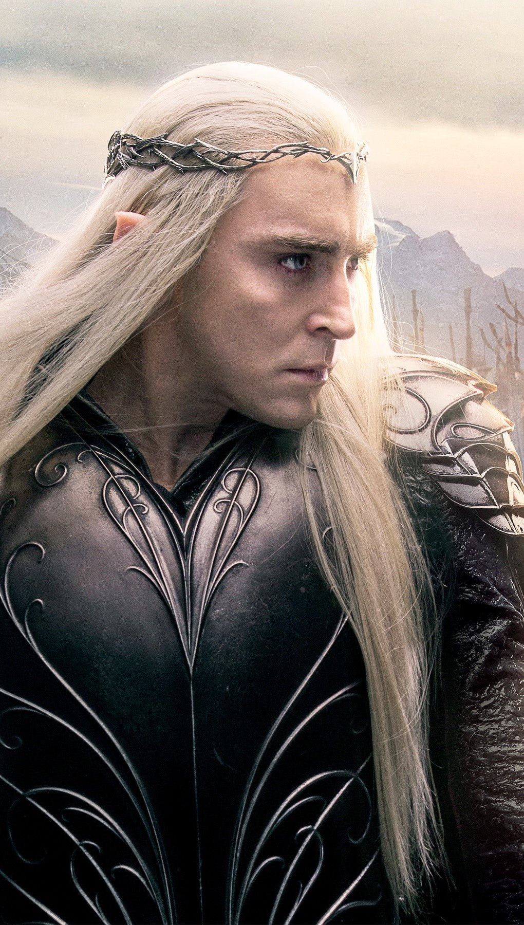 Wallpaper Lee Pace as Thranduil in the Hobbit 3 Vertical