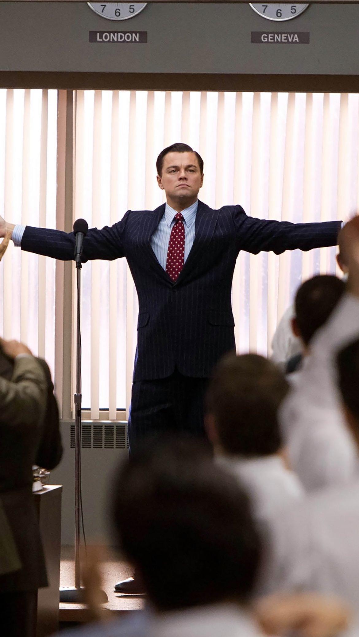 Fondos de pantalla Leonardo DiCaprio en El lobo de Wall Street Vertical