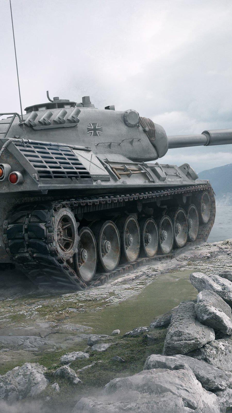Fondos de pantalla Leopard 1 World of Tank Vertical
