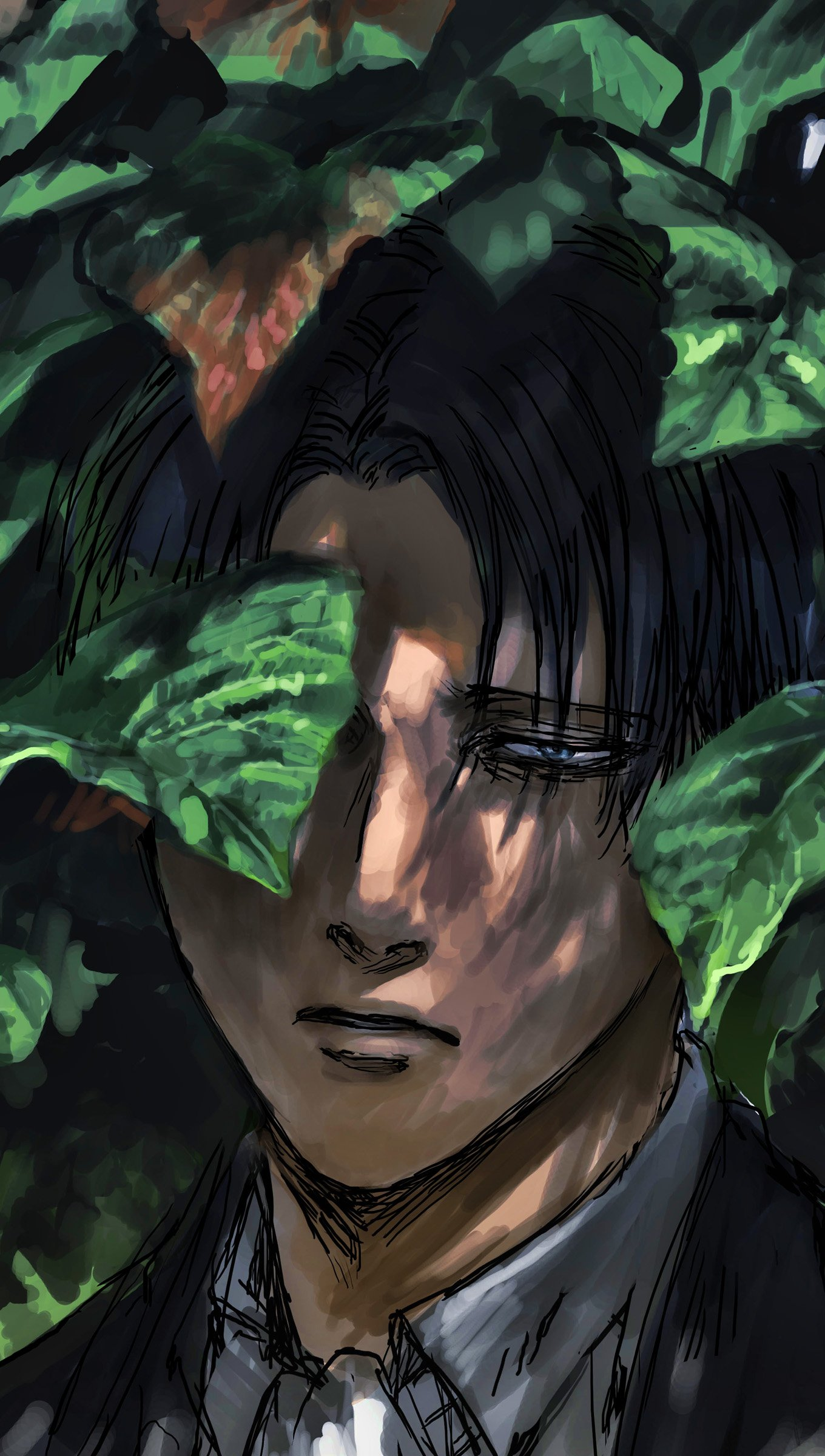 Anime Wallpaper Levi Ackerman from Attack on Titans Vertical