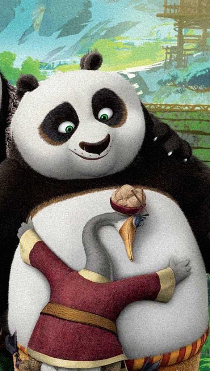 Wallpaper Li Shan and Po in Kung Fu panda 3 Vertical