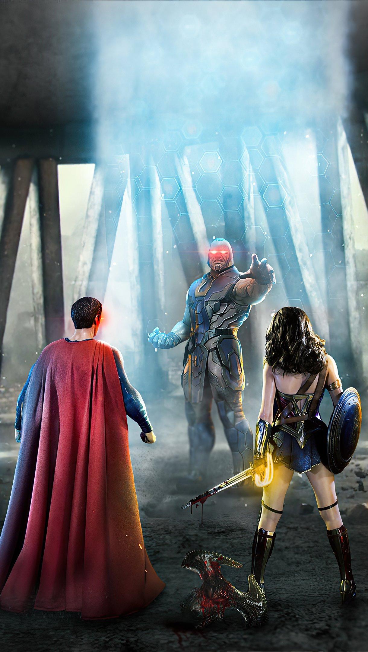 Fondos de pantalla Liga de la Justicia contra Darkseid Vertical
