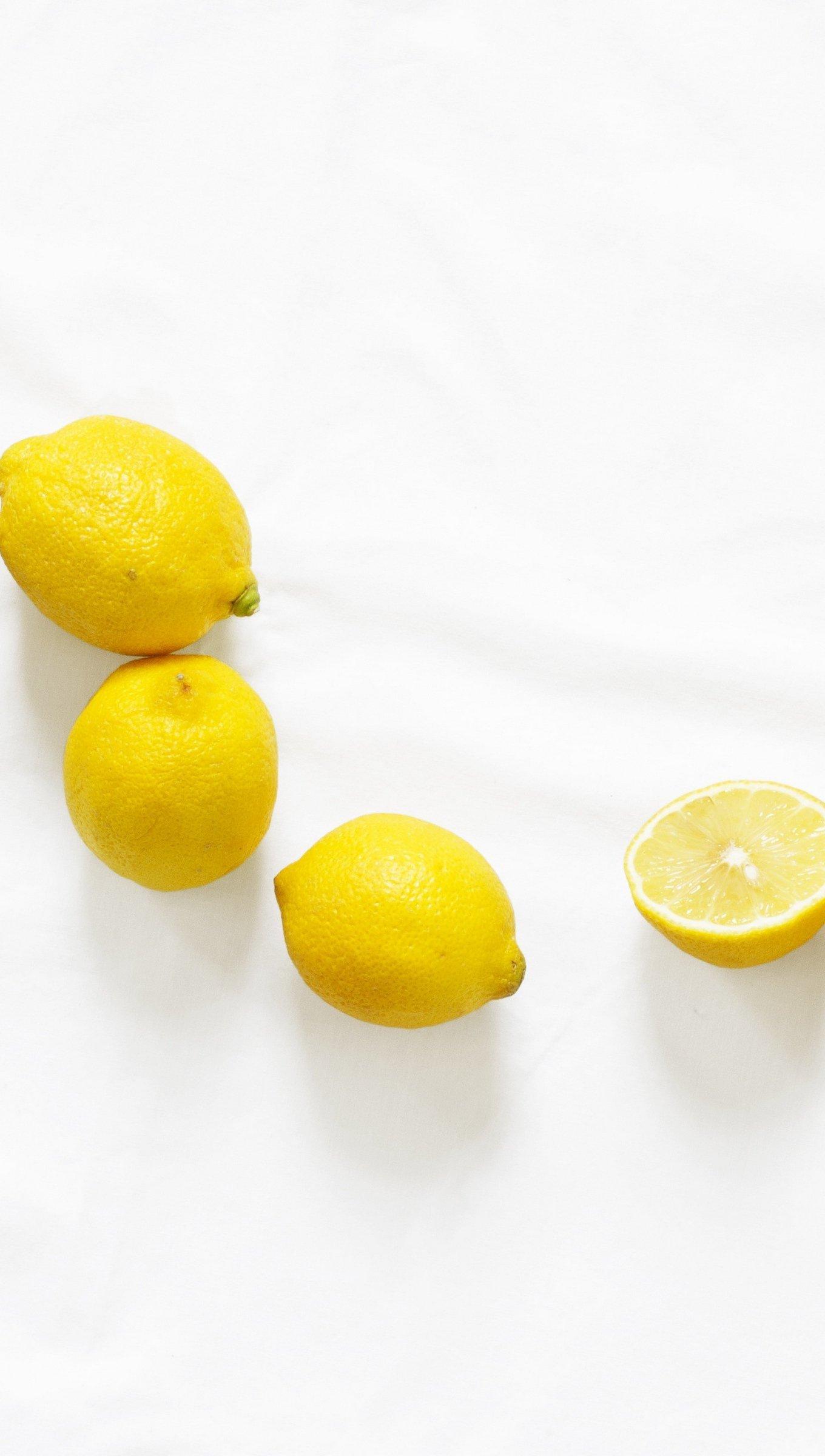 Fondos de pantalla Limones en fondo blanco Vertical