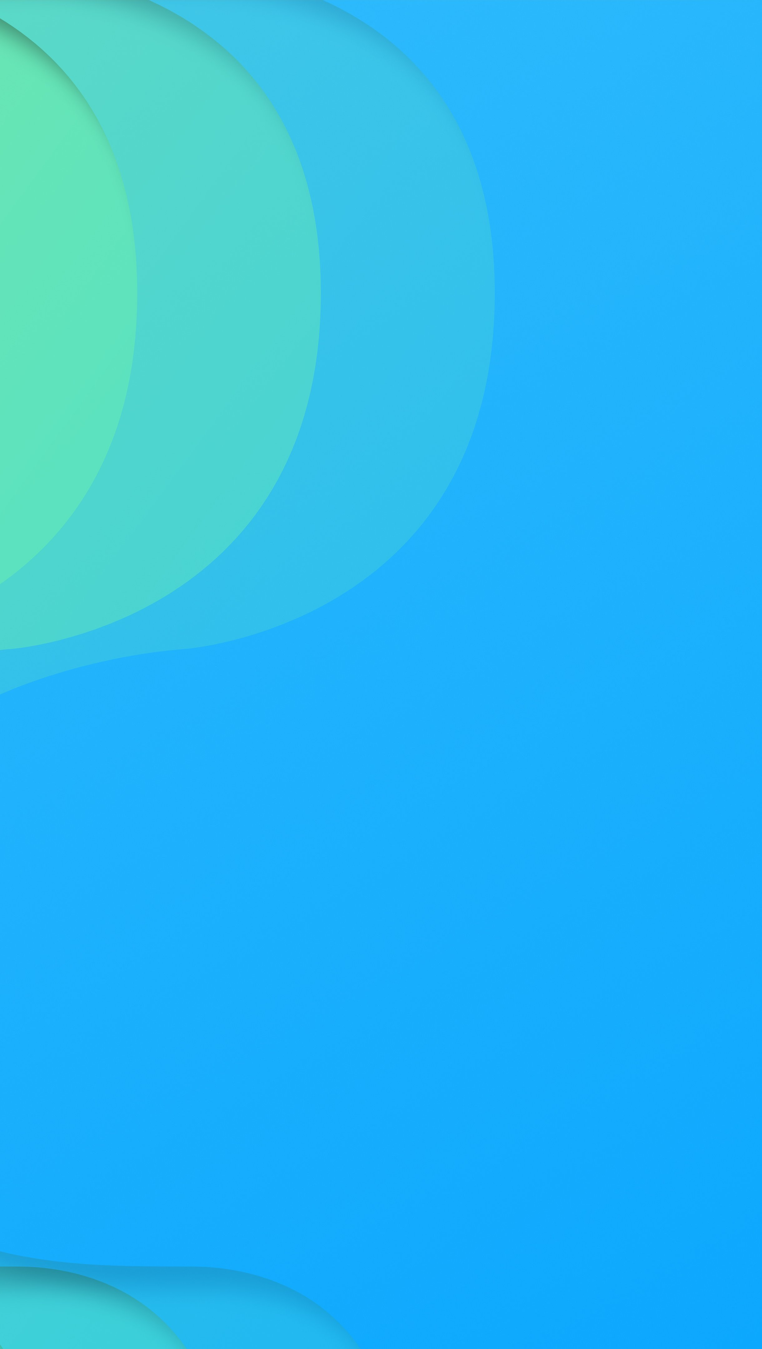 Wallpaper Blue and green curved lines Vertical