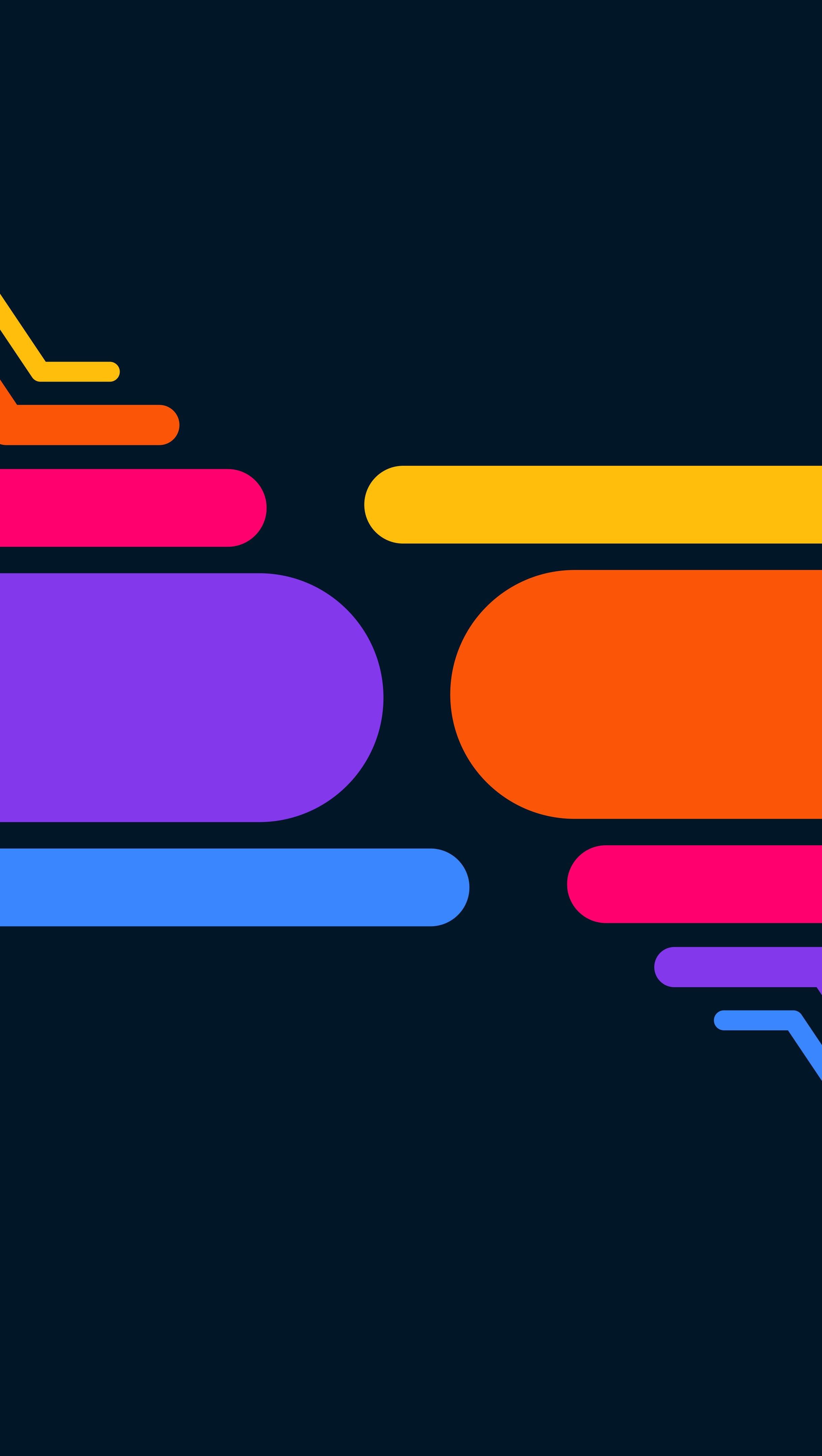 Fondos de pantalla Líneas de colores Minimalista Vertical