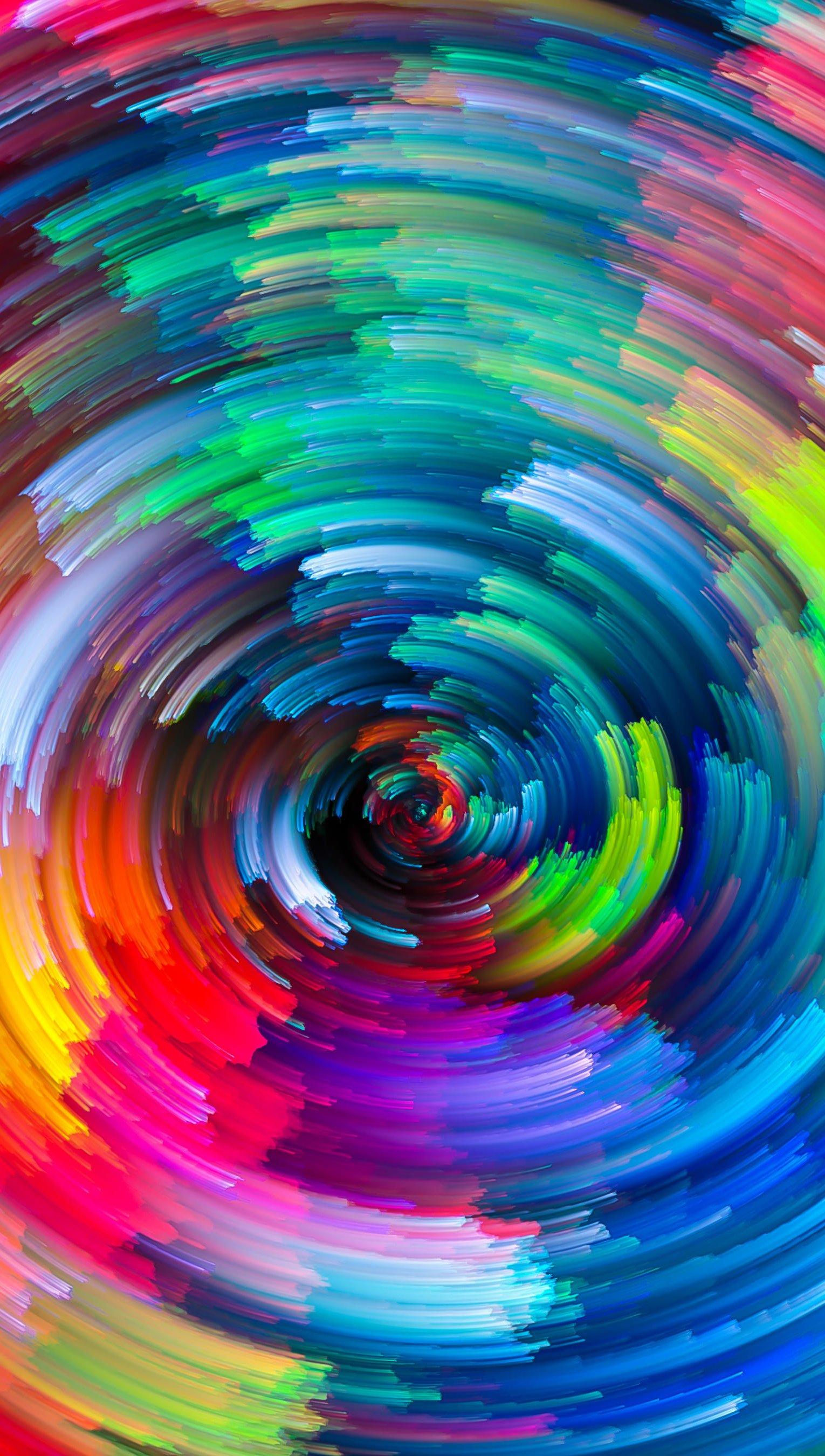 Fondos de pantalla Lineas en espiral de colores Vertical