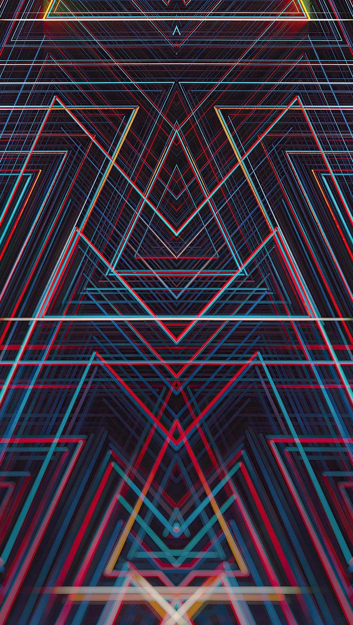 Wallpaper Lines Symmetry Vertical