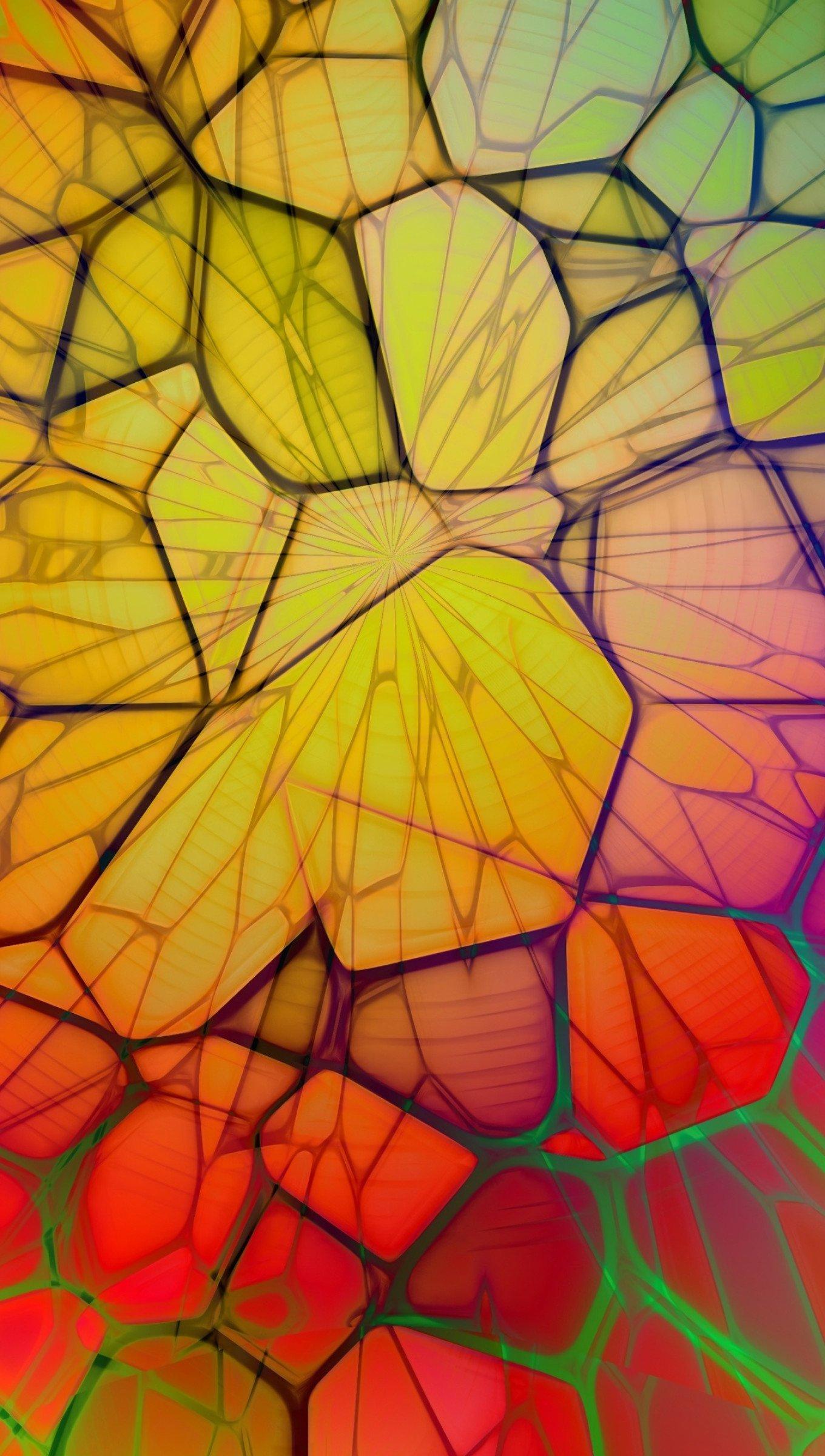 Fondos de pantalla Lineas geometricas en arcoiris Vertical