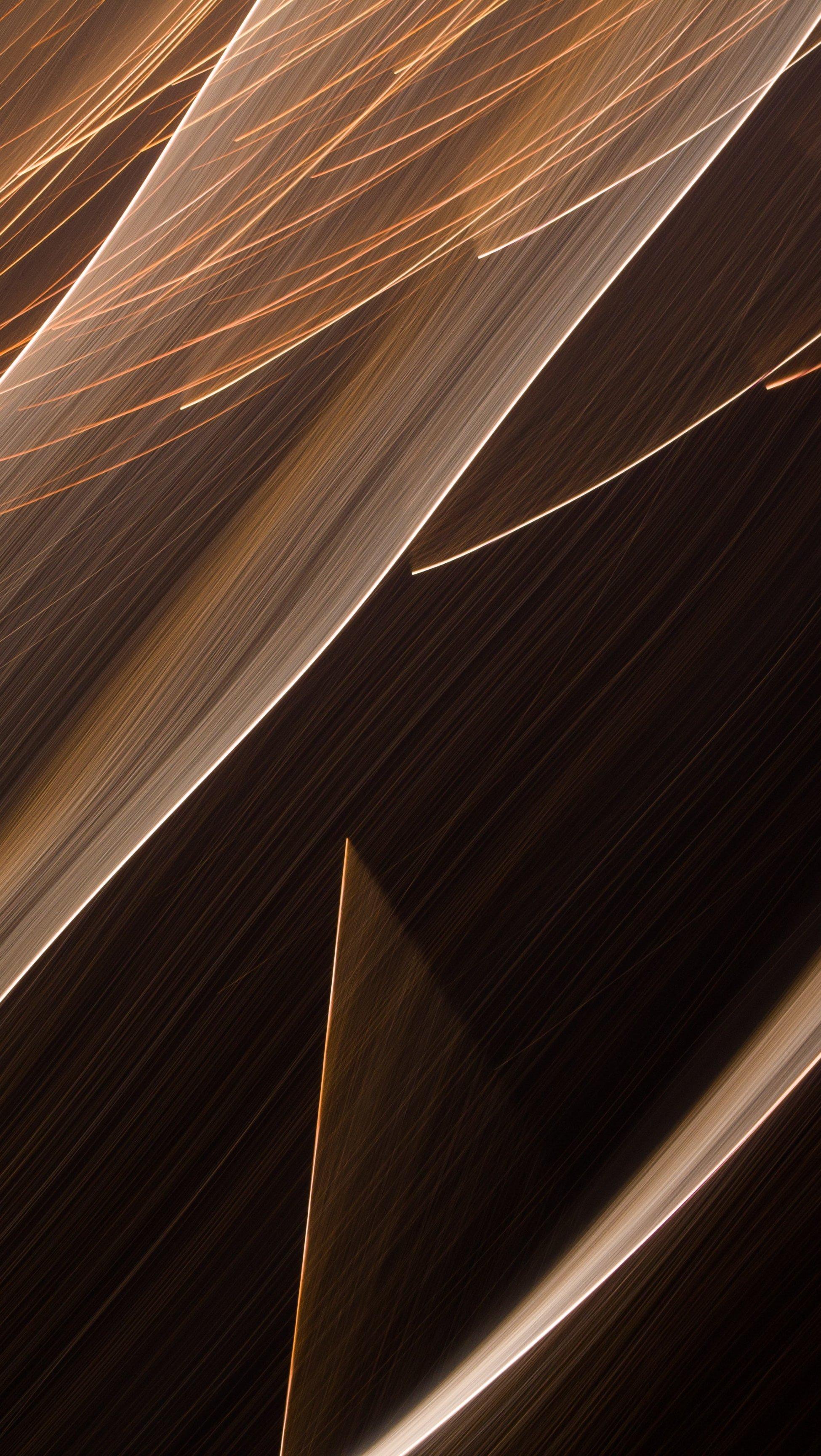 Fondos de pantalla Lineas iluminadas color café Vertical