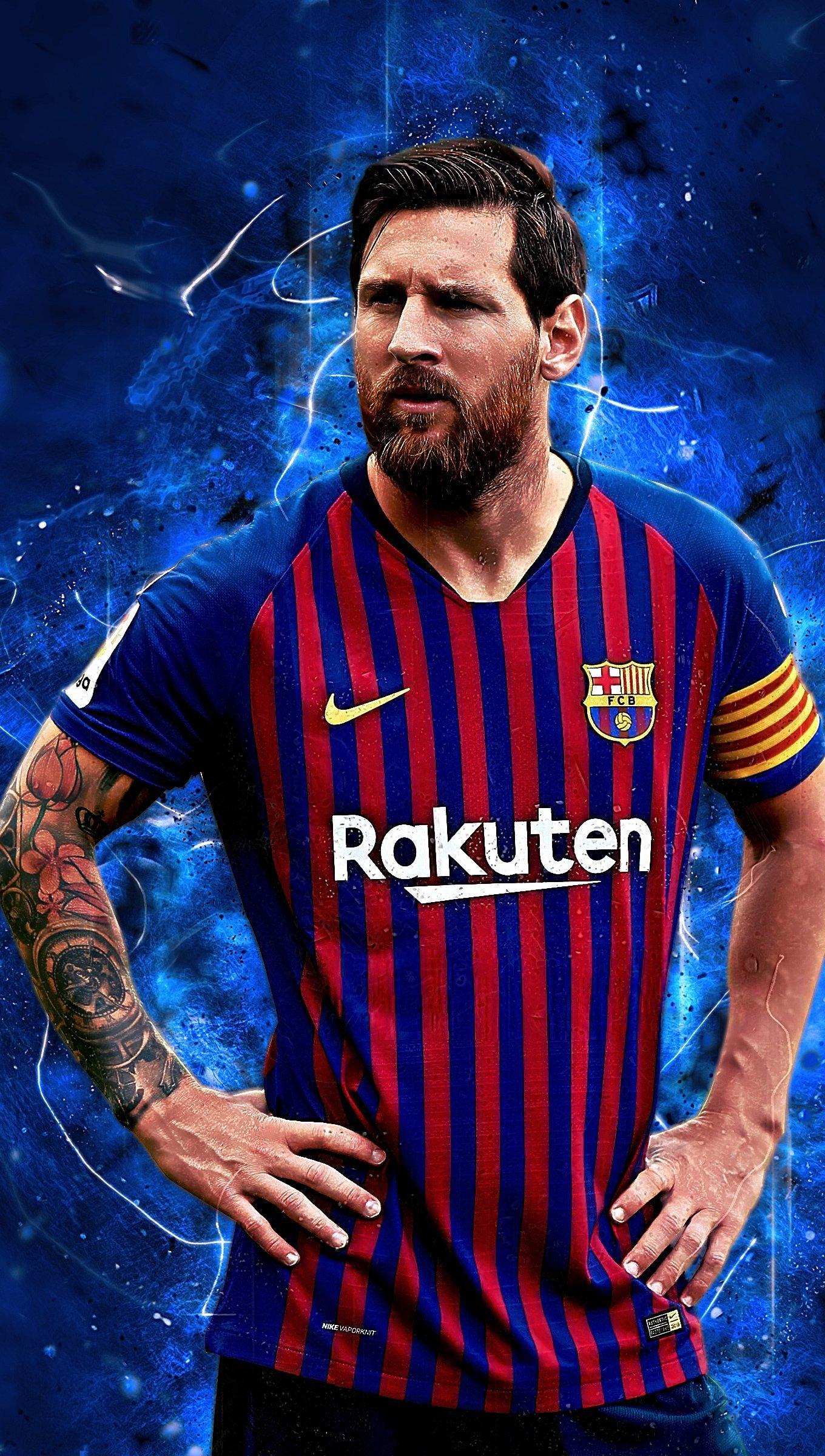 Wallpaper Lionel Messi Barcelona Vertical