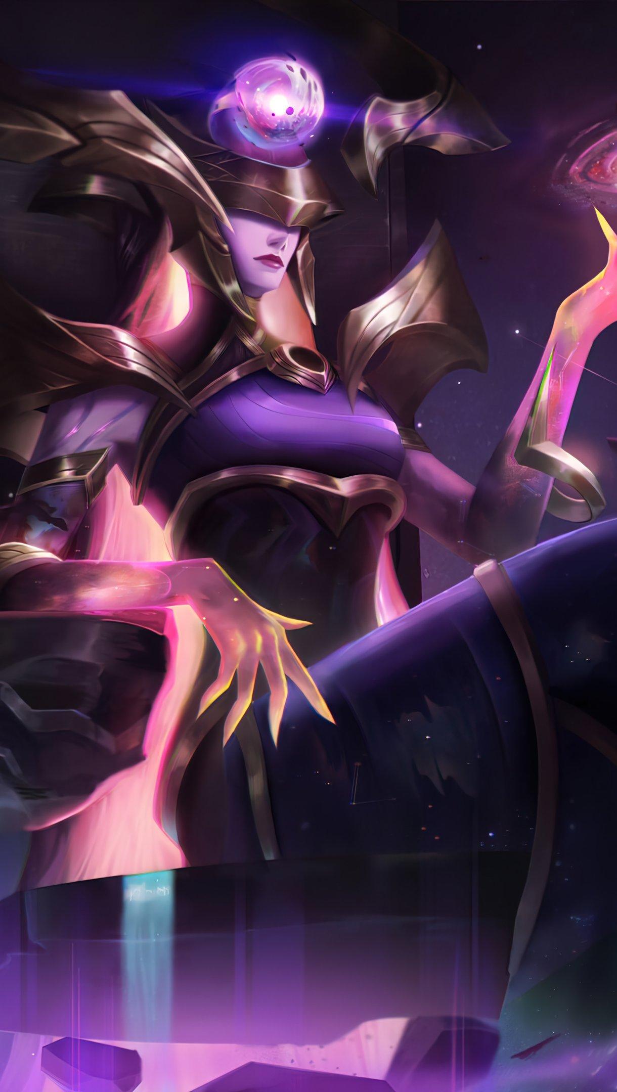 Wallpaper Lissandra dark star League of Legends Vertical