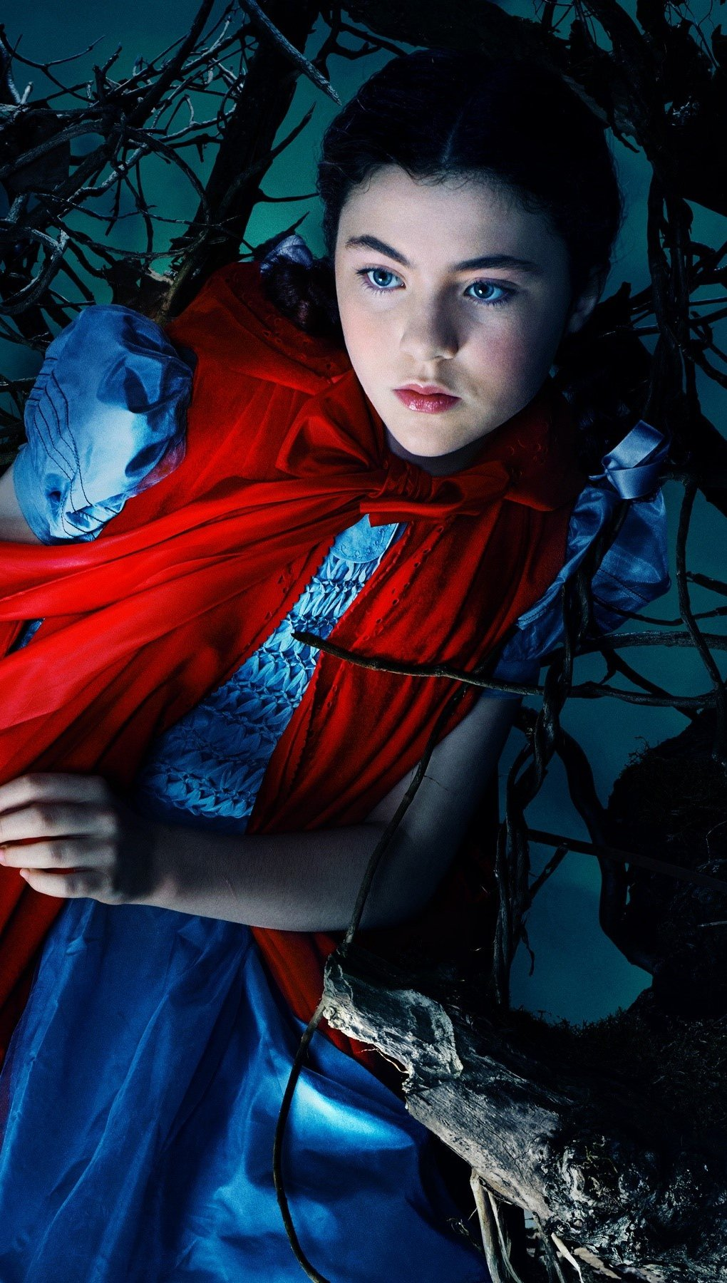 Wallpaper Little red riding hood in Into the woods Vertical