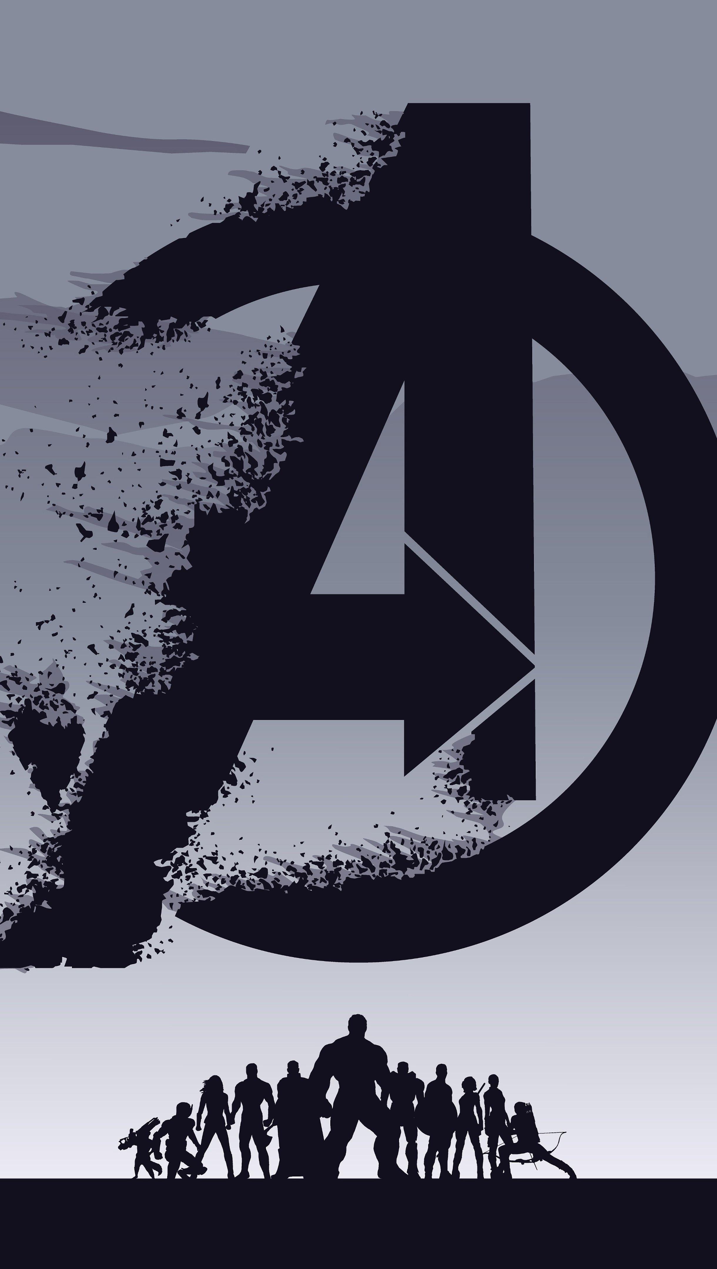 Wallpaper Logo Avengers Endgame Vertical