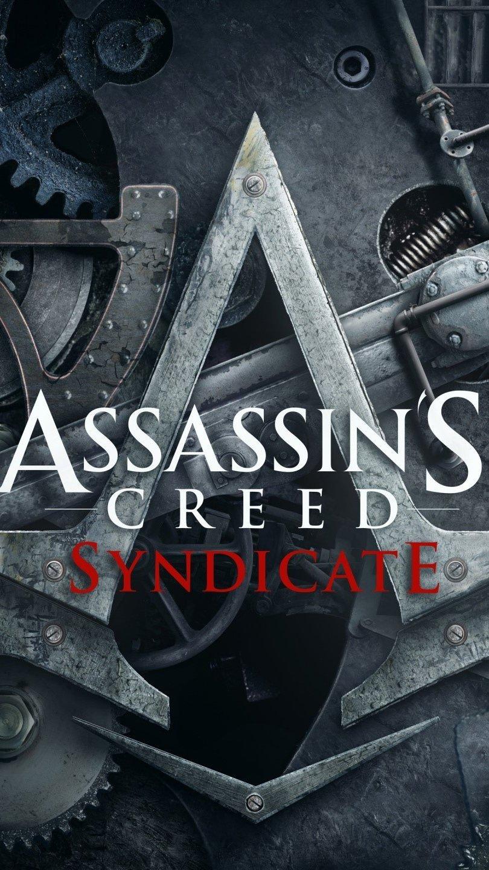 Wallpaper Assassins Creed Syndicete logo Vertical
