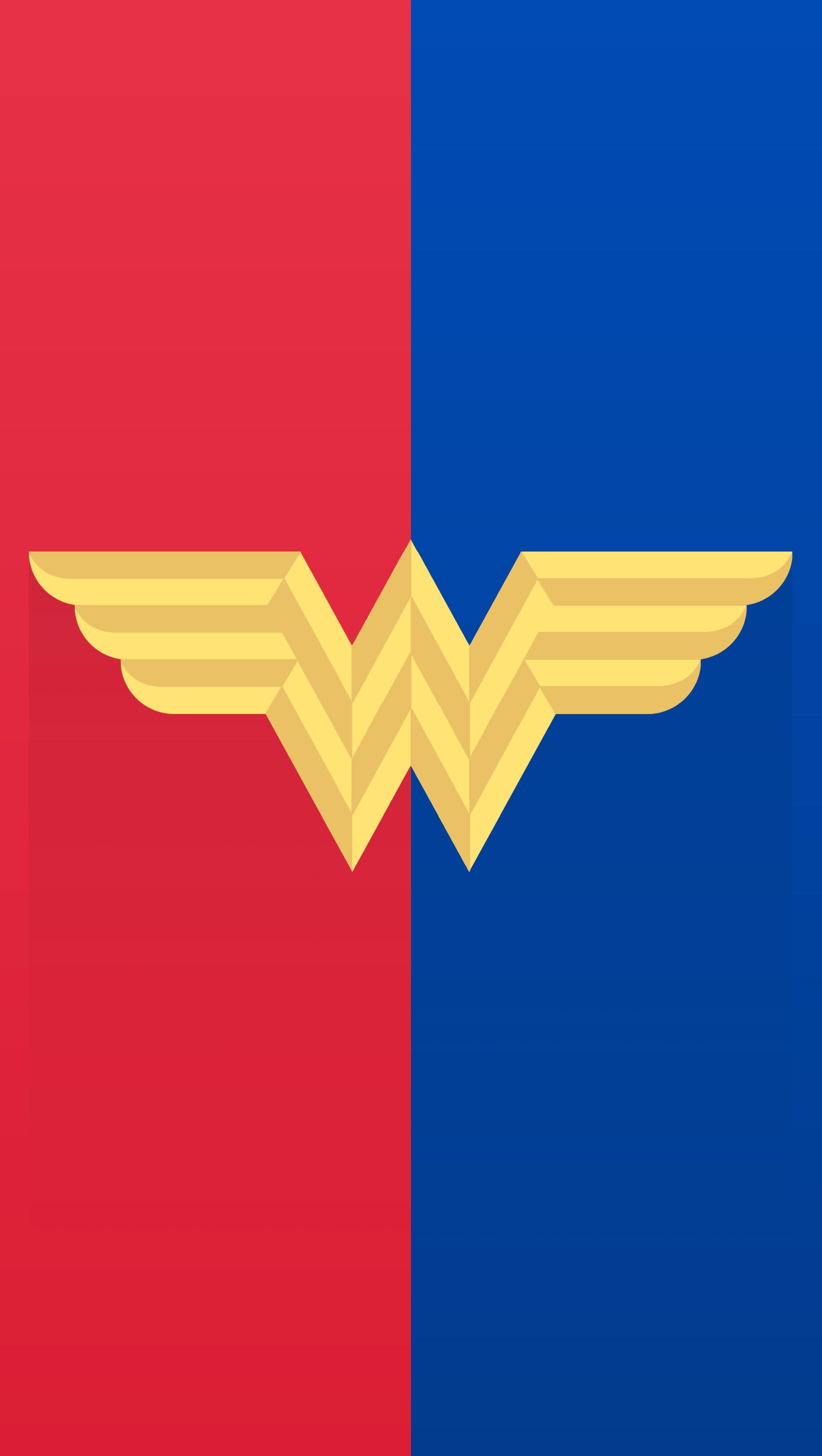 Wallpaper Wonder Woman Logo Minimalist Vertical