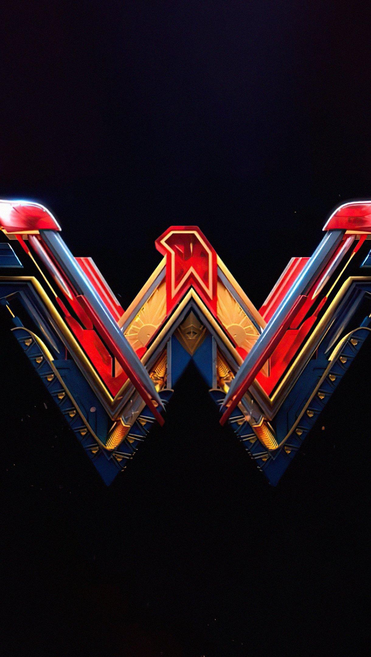 Wallpaper Wonder Woman Logo Vertical
