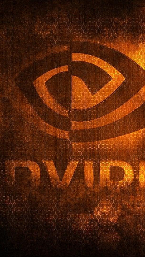 Wallpaper Nvidia logo Vertical