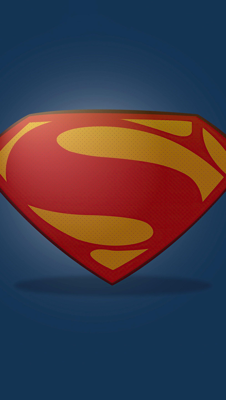 Fondos de pantalla Logo de Superman Minimalista Vertical