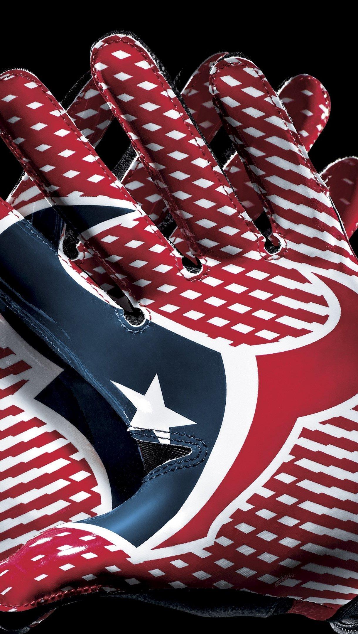 Fondos de pantalla Logo de Texas en guantes de futbol Vertical