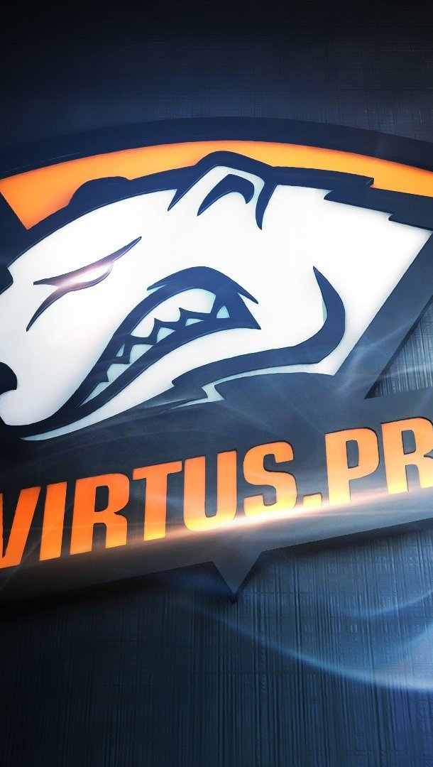 Wallpaper Virtus pro logo Vertical