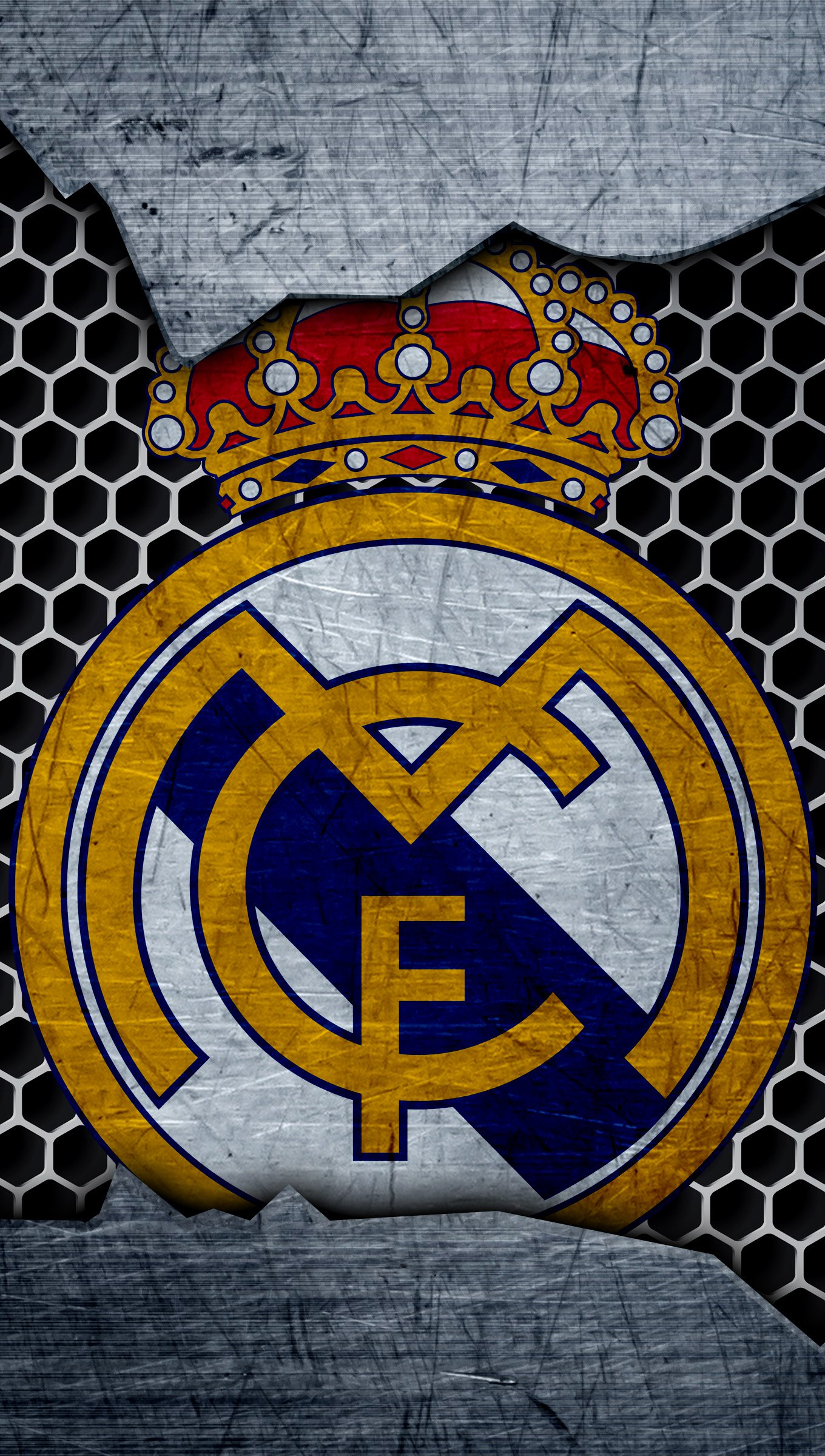 Wallpaper Real Madrid Logo Vertical