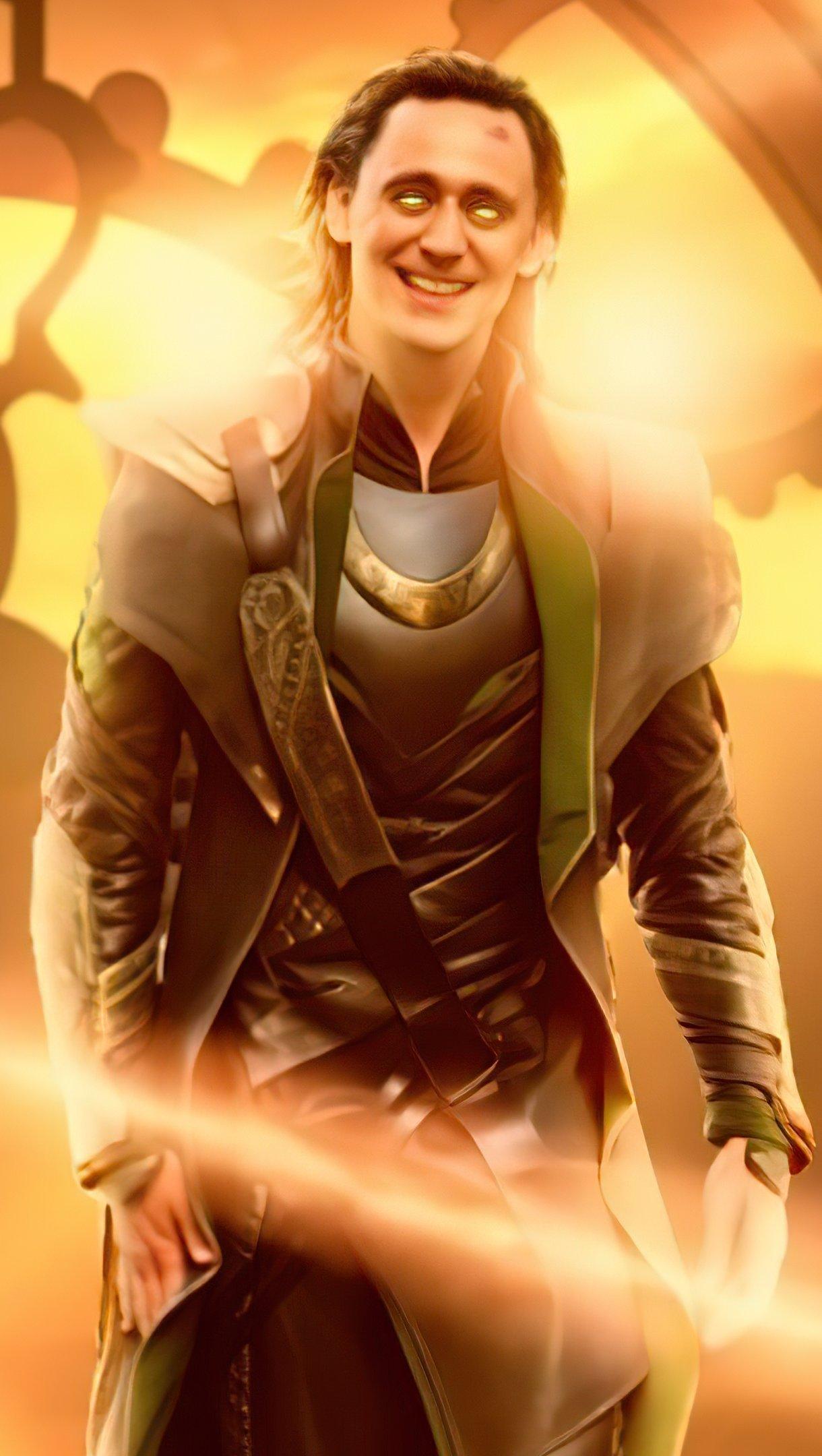 Wallpaper Loki The God of mischief Poster Vertical