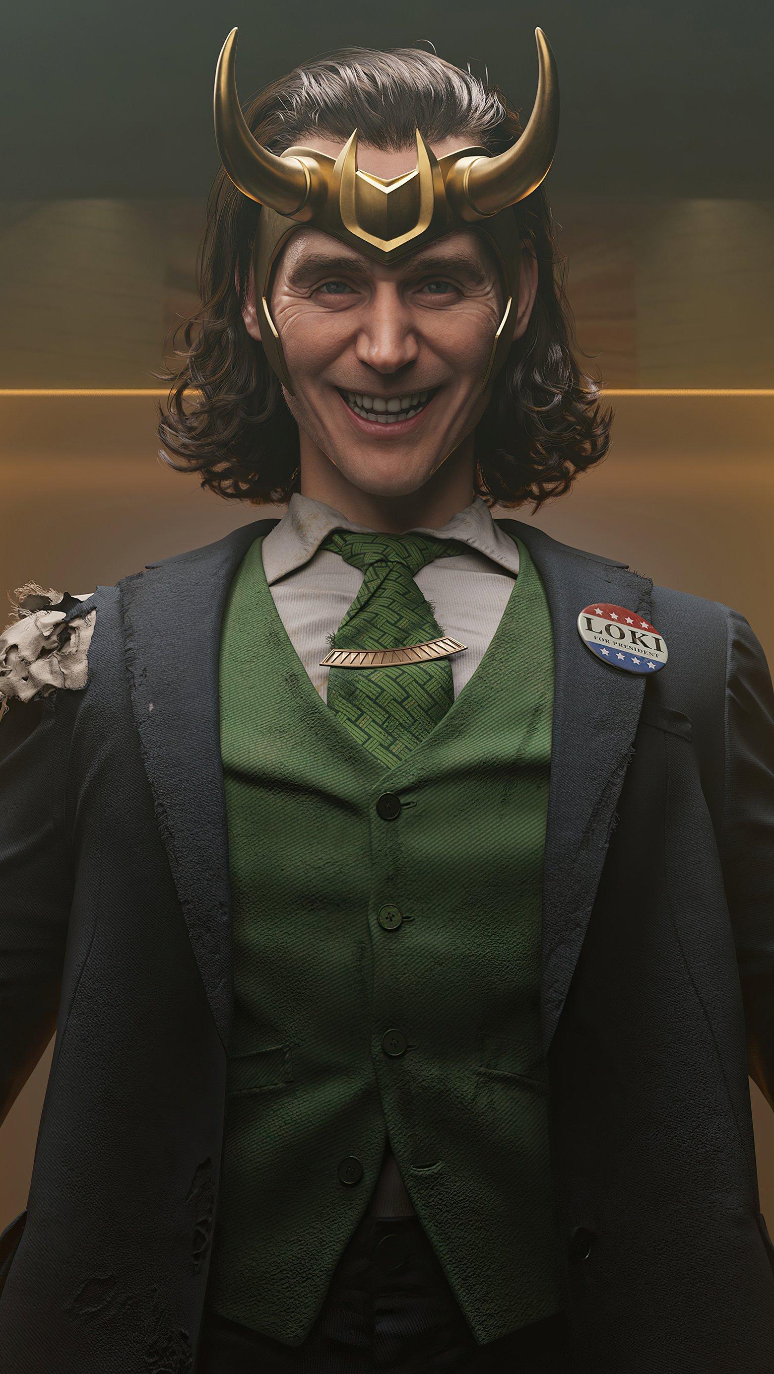Wallpaper Loki smiling Vertical
