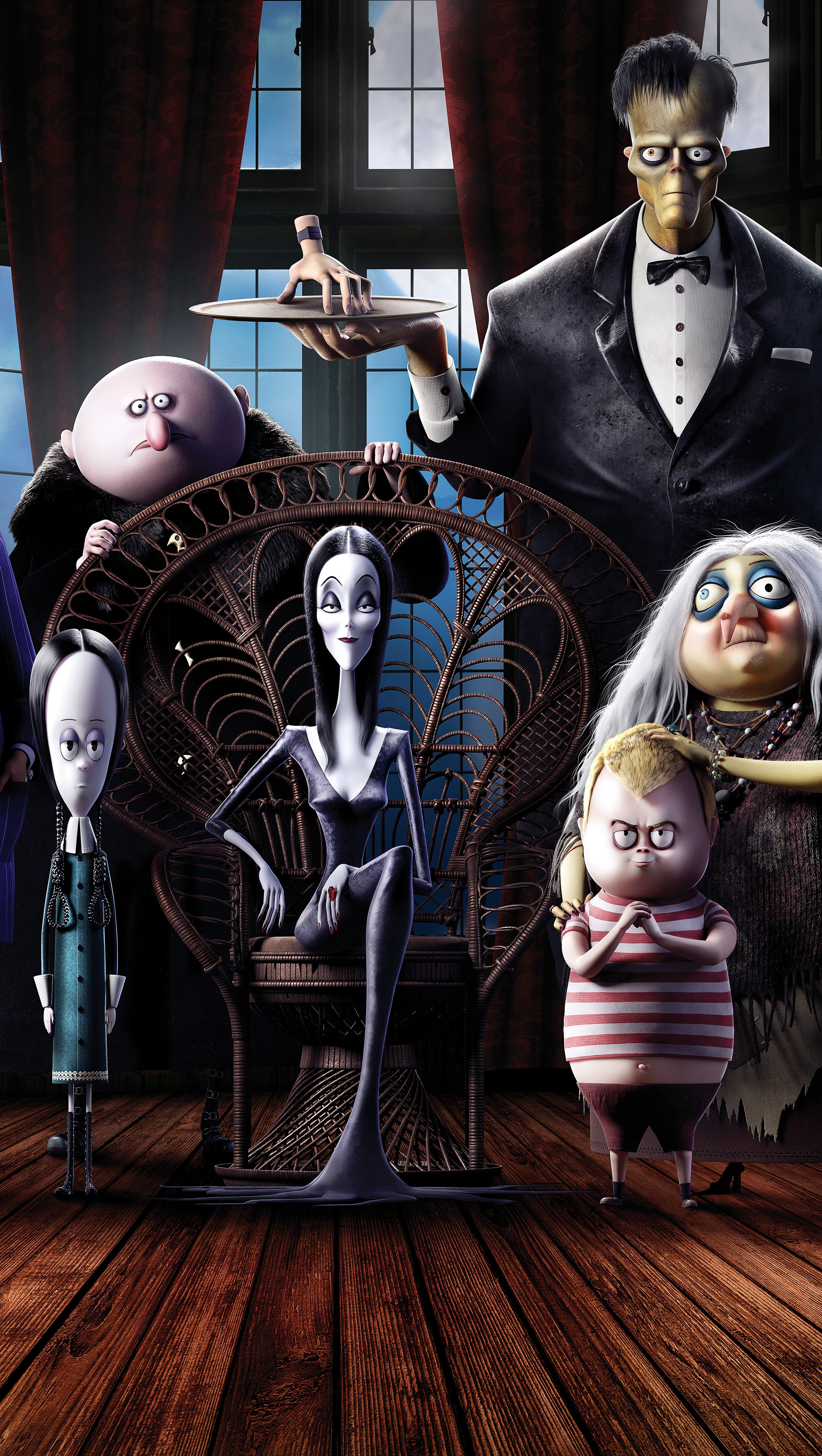 Wallpaper The Addams family animated Vertical