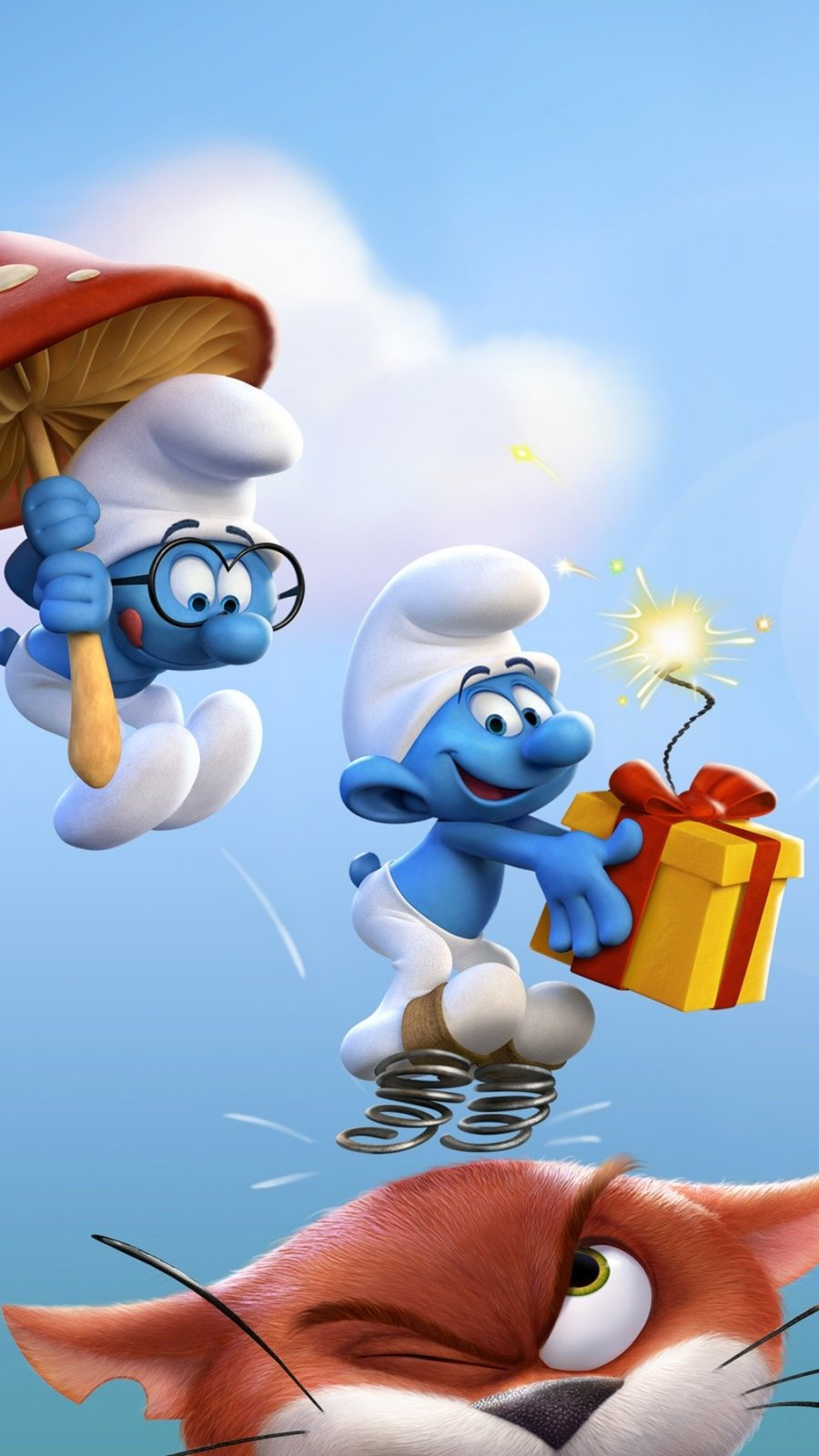 Wallpaper The Smurfs: the lost people Vertical