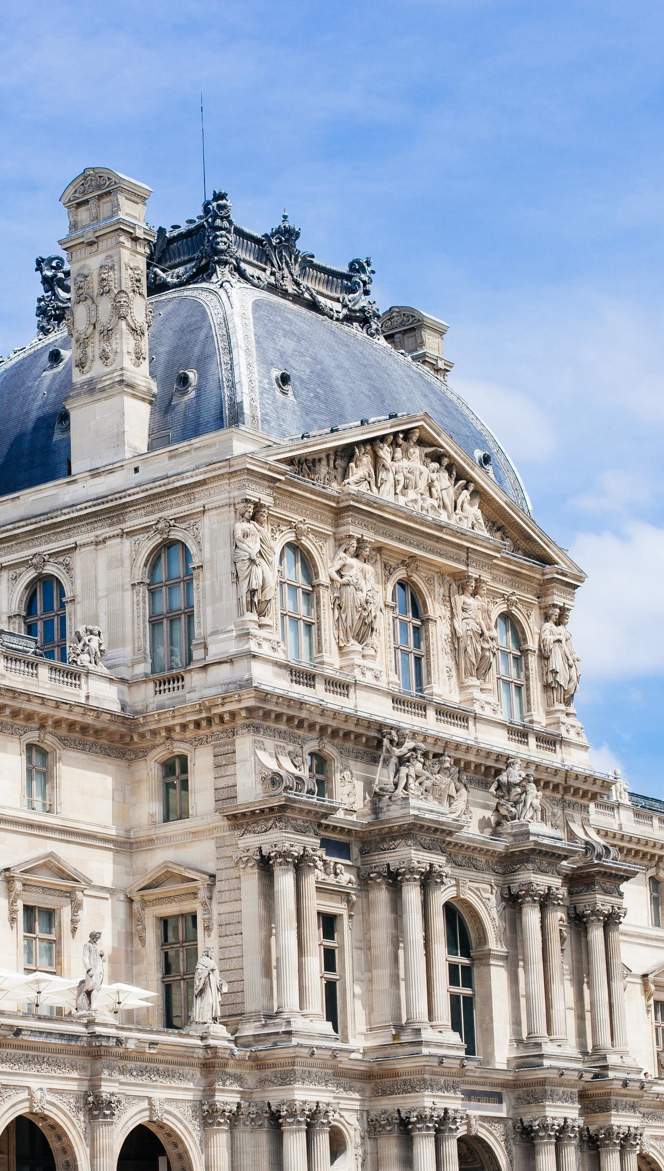 Wallpaper Louvre in Paris Vertical